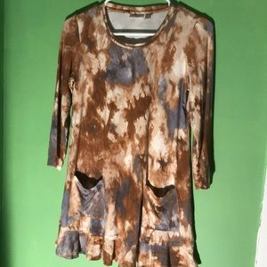 LOGO by Lori Goldstein XSmall Tie dye tunic